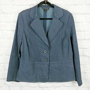 Ashley Stewart Jean Jacket Blue Blazer Size 12